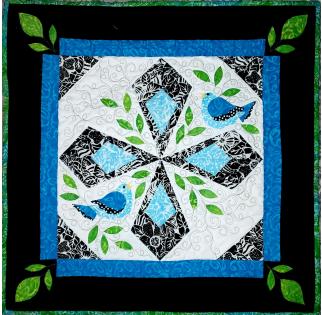 2021 Bluebirds Quilt Shop Quilters Trek BLOCK(No borders: separate kit for borders)