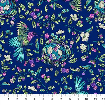 Stag and Thistle Songstress Navy Multi