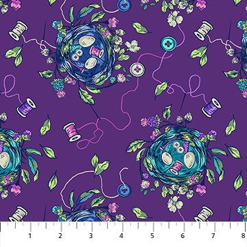 Stag and Thistle Sew Bountiful Purple Multi