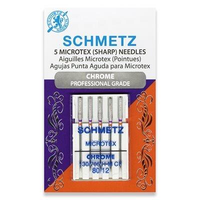 Schmetz Chrome Microtex Needles 80/12