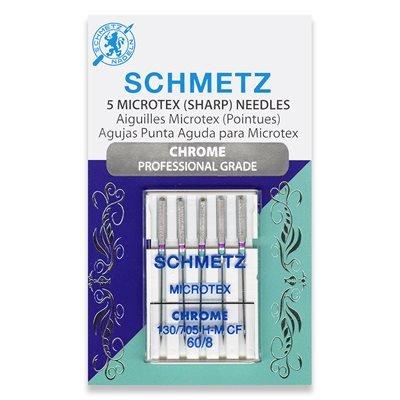 Schmetz Chrome Microtex Needles 60/8
