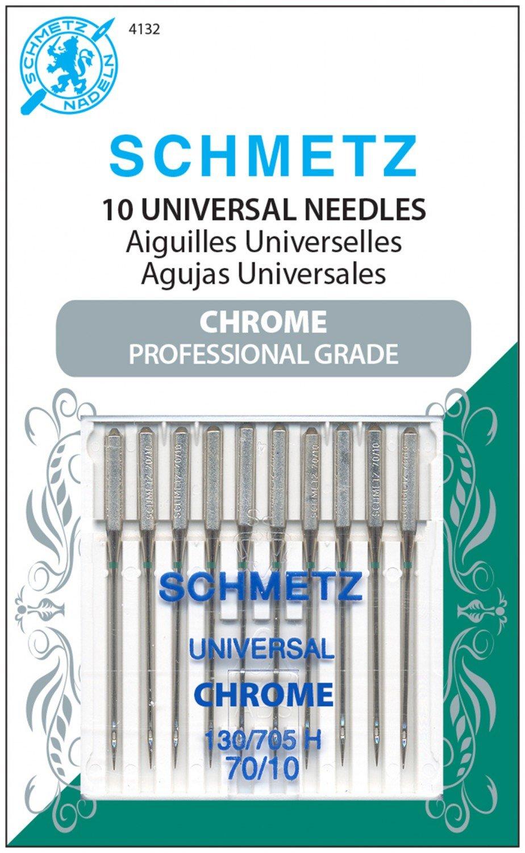 Schmetz Universal Chrome Needles 70/10 TEN pack
