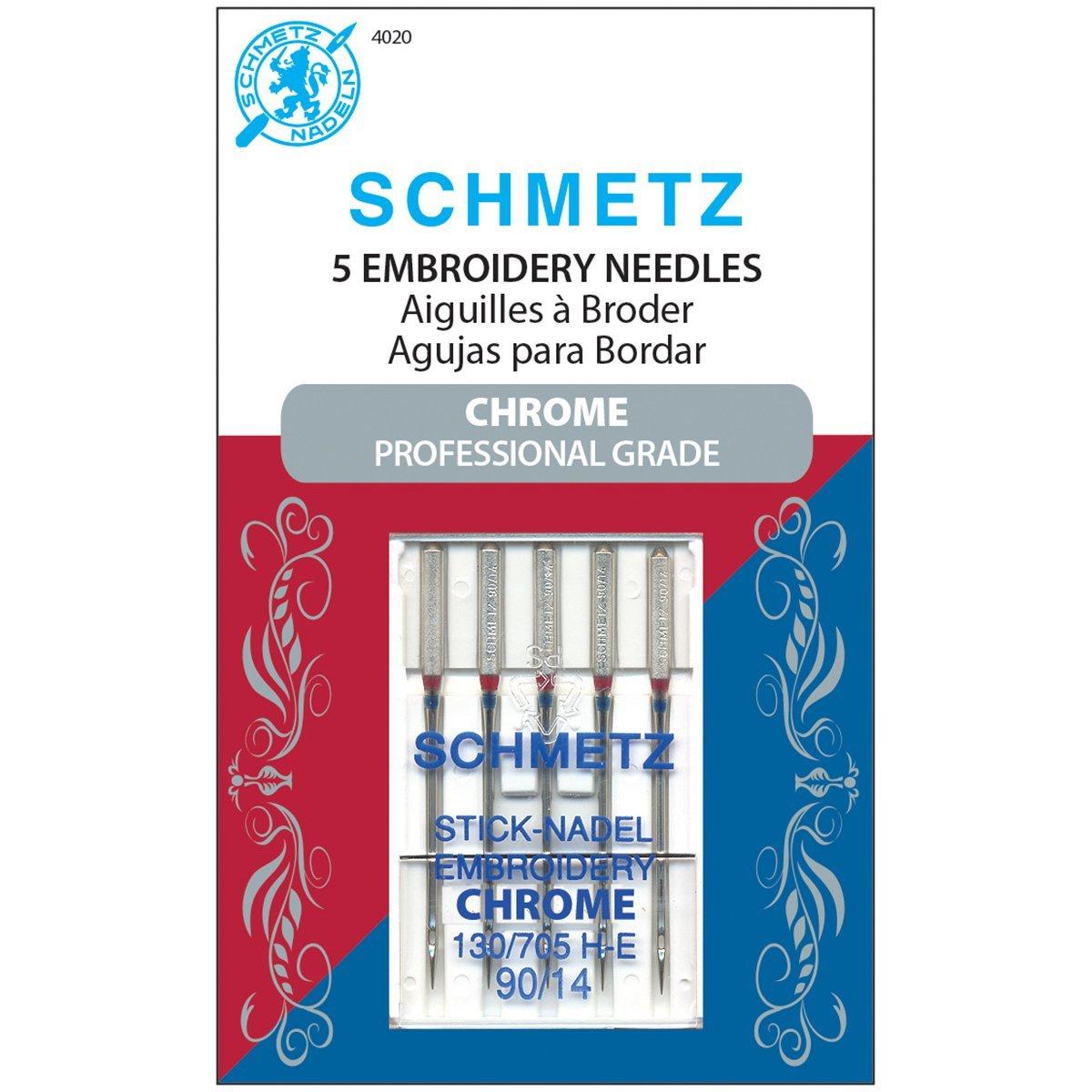 Schmetz Chrome Embroidery Needles 90/14