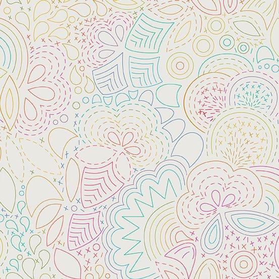 Art Theory Rainbow Stitched Light by Alison Glass
