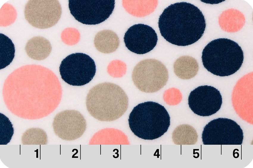 Bubble dot coral/Navy