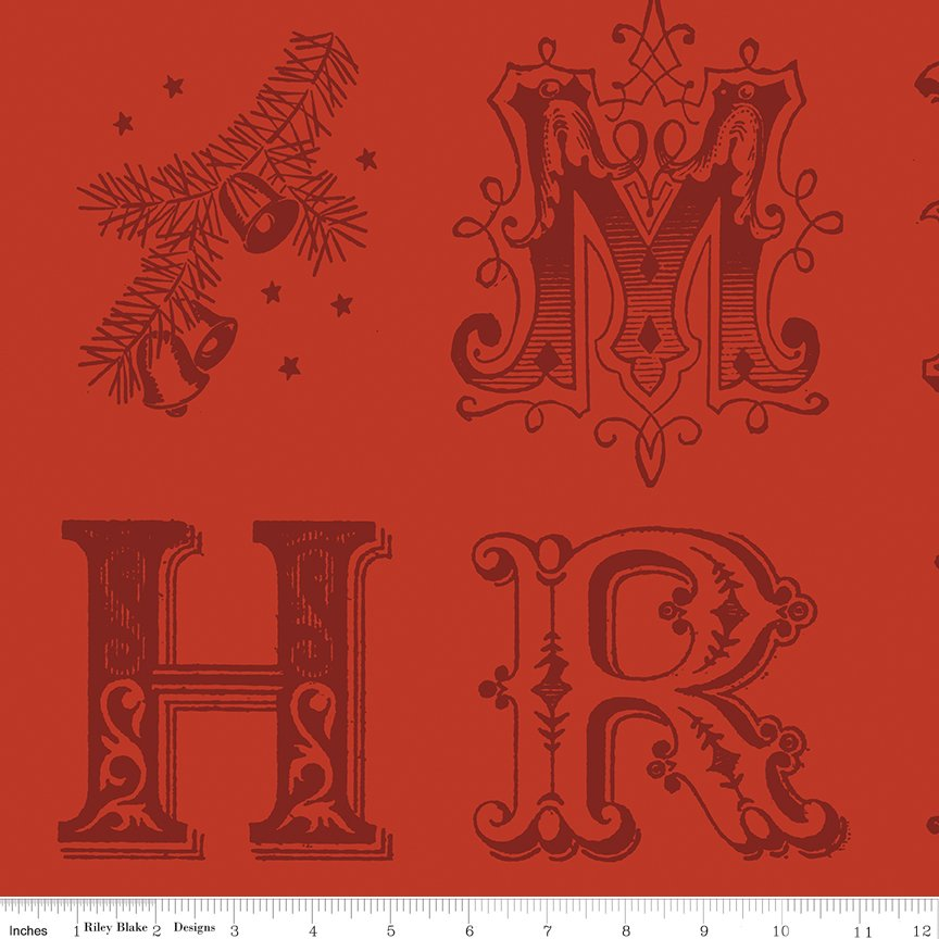 All About Christmas Typography Red by Janet Wecker-Frish