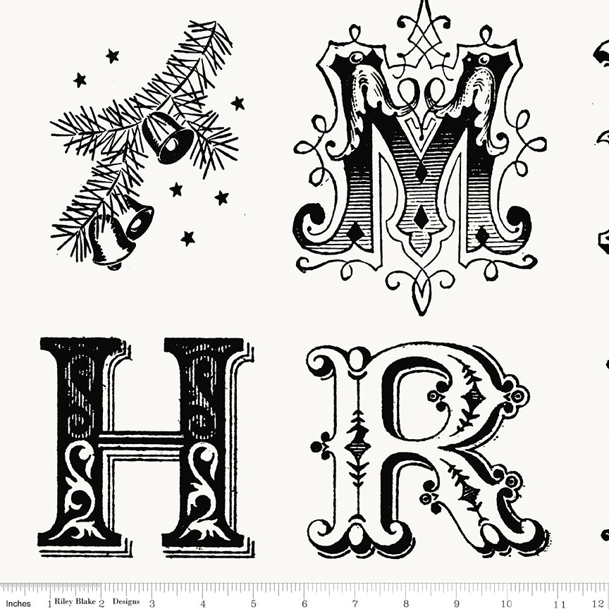 All About Christmas Typography White by Janet Wecker-Frish