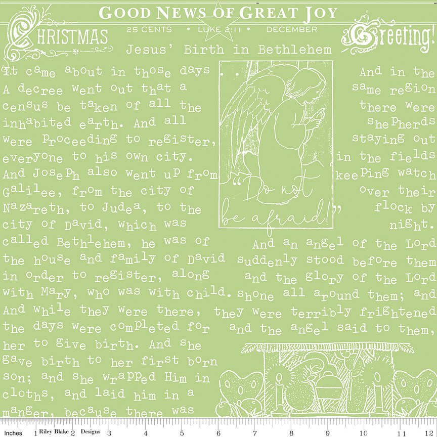 All About Christmas Good News Green by Janet Wecker-Frish