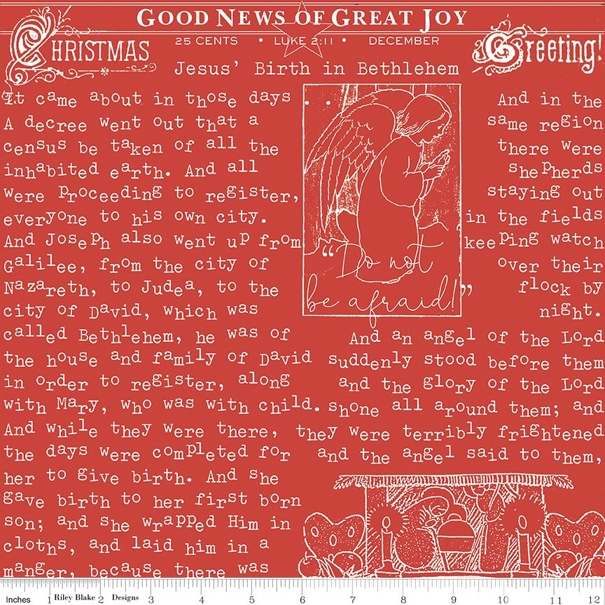 All About Christmas Good News Red by Janet Wecker-Frish