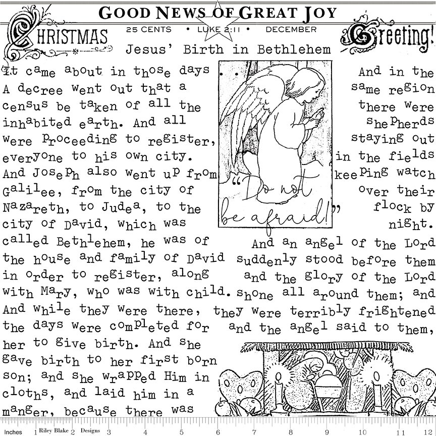 All About Christmas Good News White by Janet Wecker-Frish
