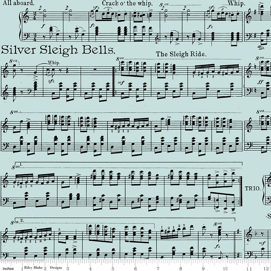 All About Christmas Sheet Music Blue by Janet Wecker-Frish