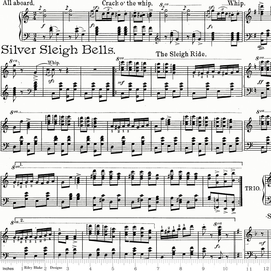 All About Christmas Sheet Music White by Janet Wecker-Frish