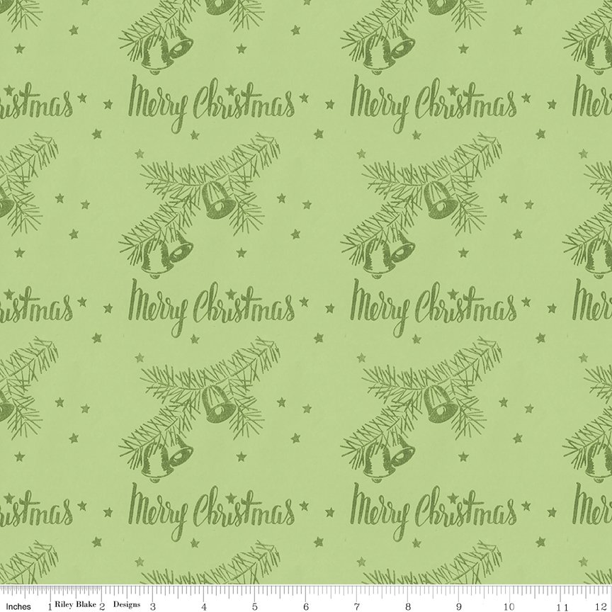 All About Christmas Stamps Green by Janet Wecker-Frish