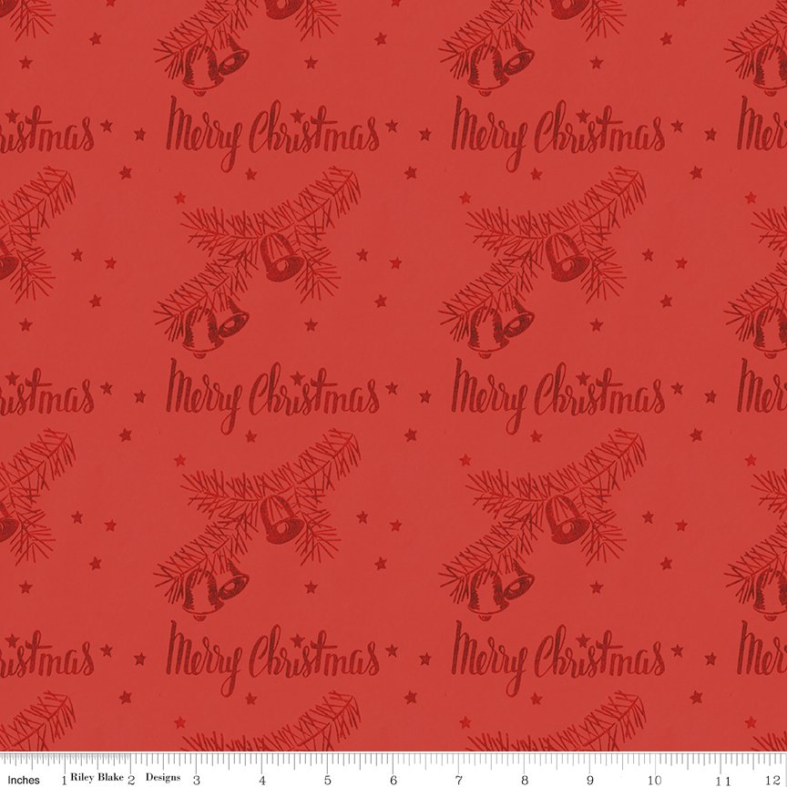 All About Christmas Stamps Red by Janet Wecker-Frish