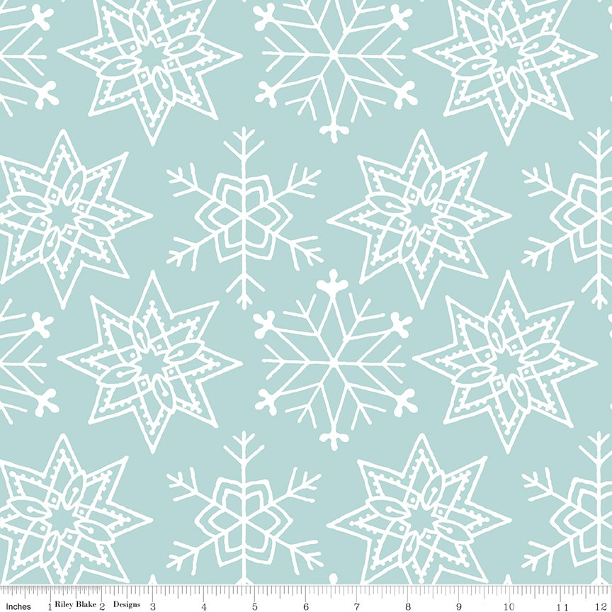 All About Christmas Snowflakes blue by Janet Wecker-Frish
