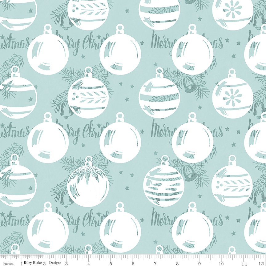 All About Christmas Ornaments Blue by Janet Wecker-Frish
