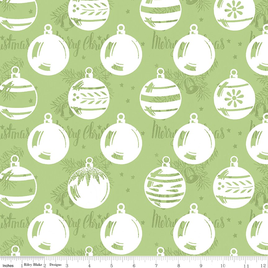 All About Christmas Ornaments Green by Janet Wecker-Frish