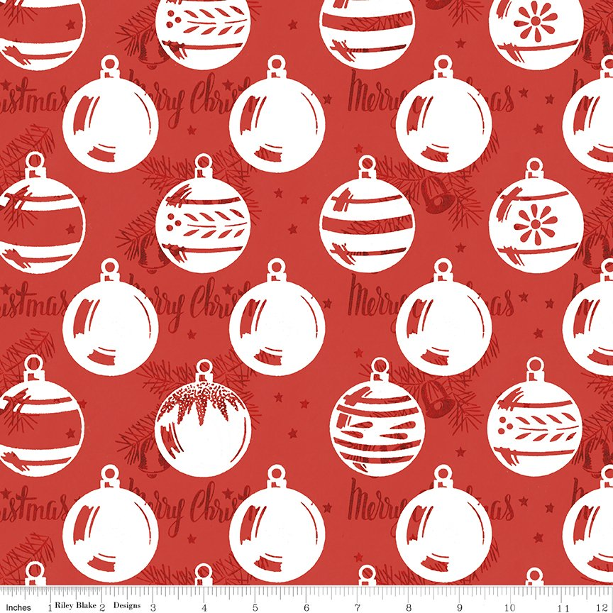 All About Christmas Ornaments Red by Janet Wecker-Frish