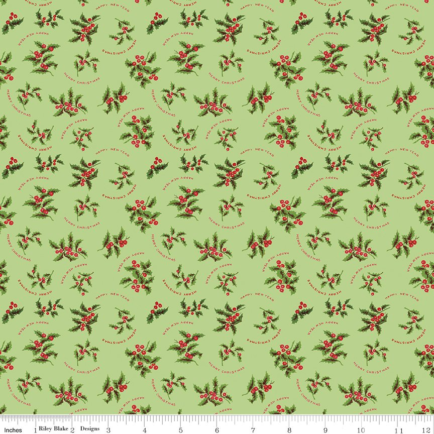 All About Christmas Holly Green by Janet Wecker Frish
