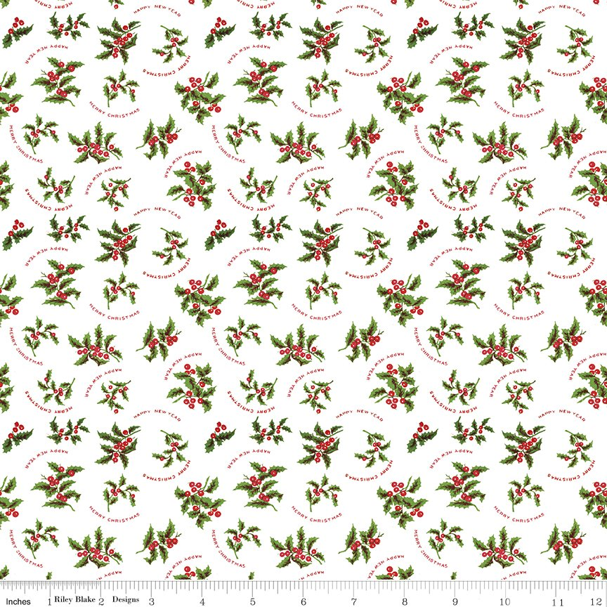 All About Christmas Holly White by Janet Wecker Frish