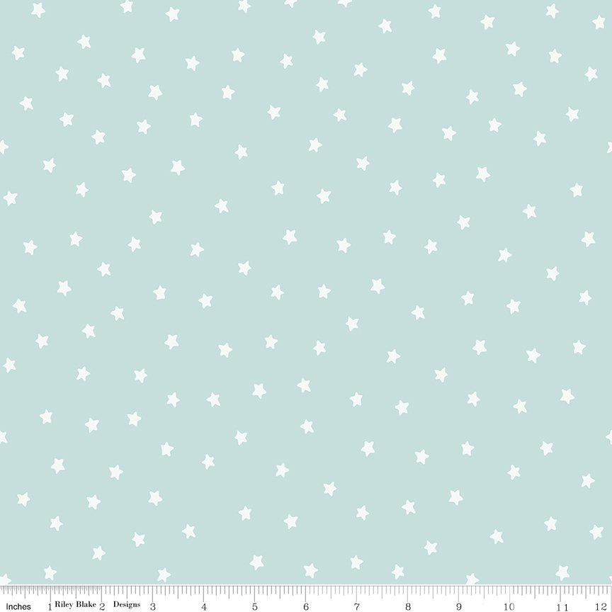 All About Christmas Stars Blue by Janet Wecker Frish