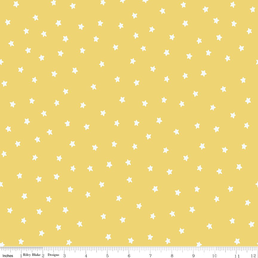 All About Christmas Stars Yellow by Janet Wecker Frish
