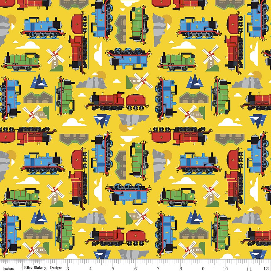 All Aboard Thomas and Friends Sodor Yellow