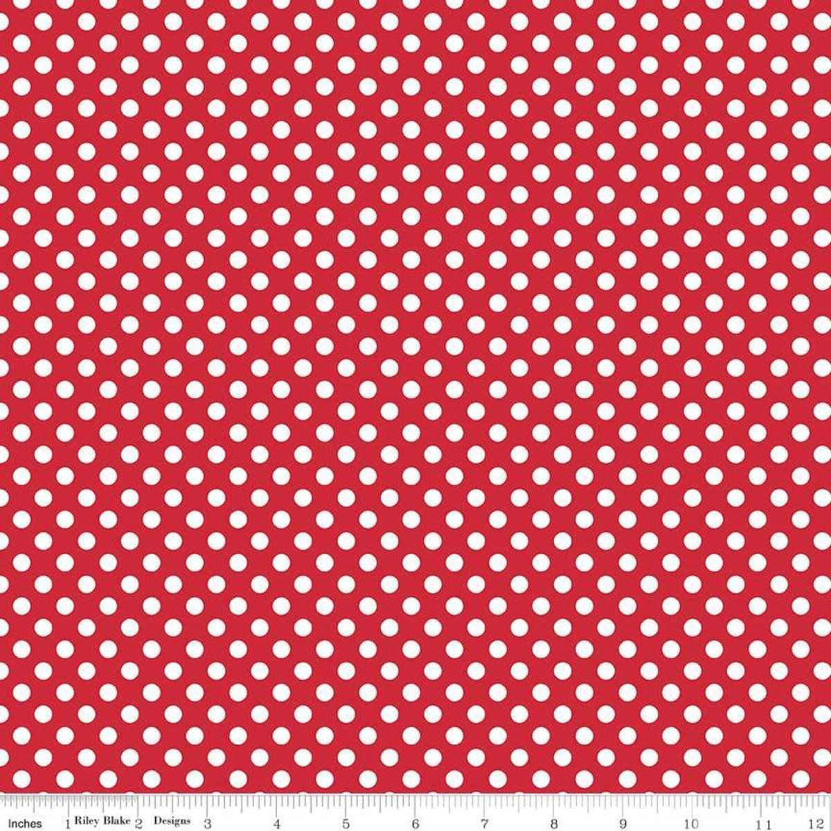 Red and White Small dots