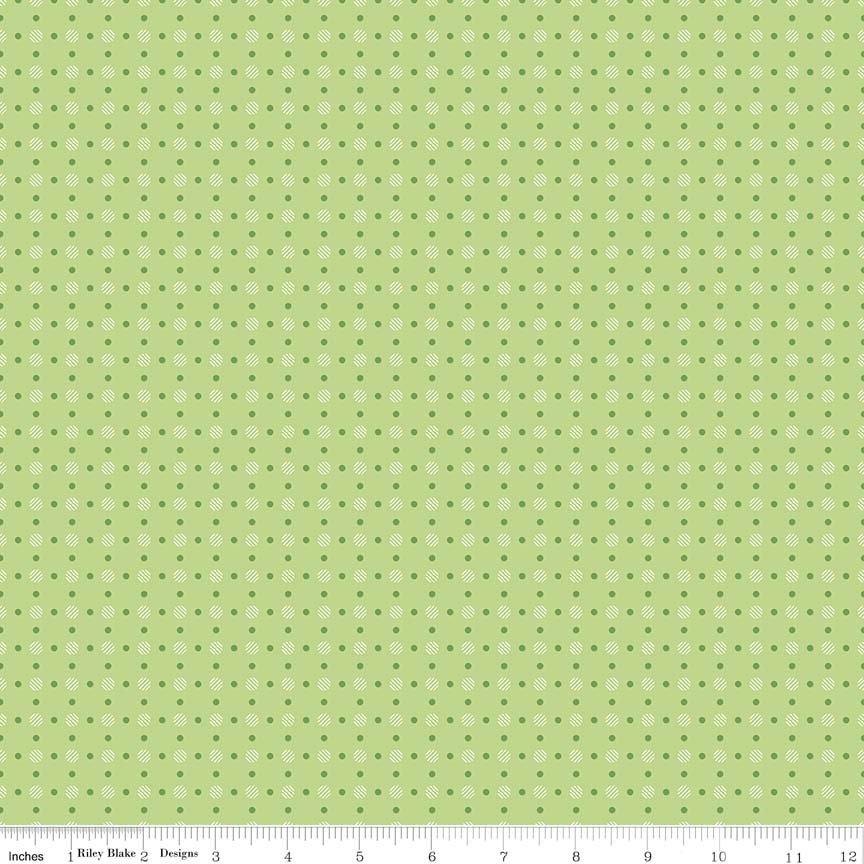 Bee Basics Polka Dot Green
