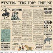Cowboy Country Newsprint Cream
