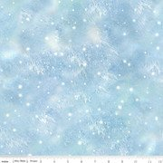 Christmas Memories Snow Flurries Light Blue