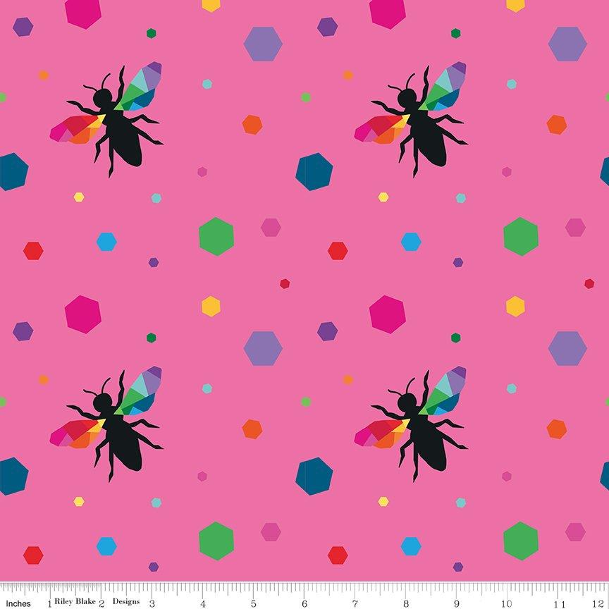 Create Hexie Bees Pink