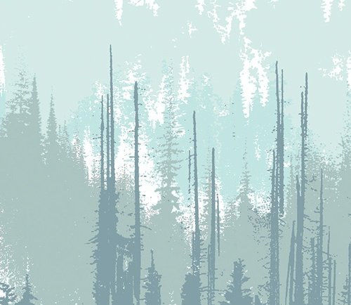Blithe Evergreens Frozen Canvas