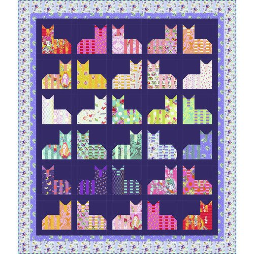 Cheshire Cat Diva Quilt ft. Curiouser and Curiouser.
