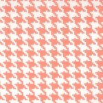 Large Houndstooth Peach