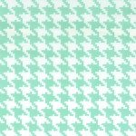 Tiny Houndstooth Seafoam