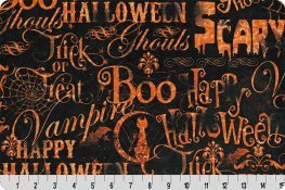 Spooky Script Cuddle Black