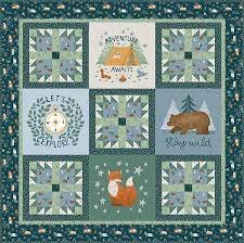 Camp Woodland Quilt Kit by Riley Blake