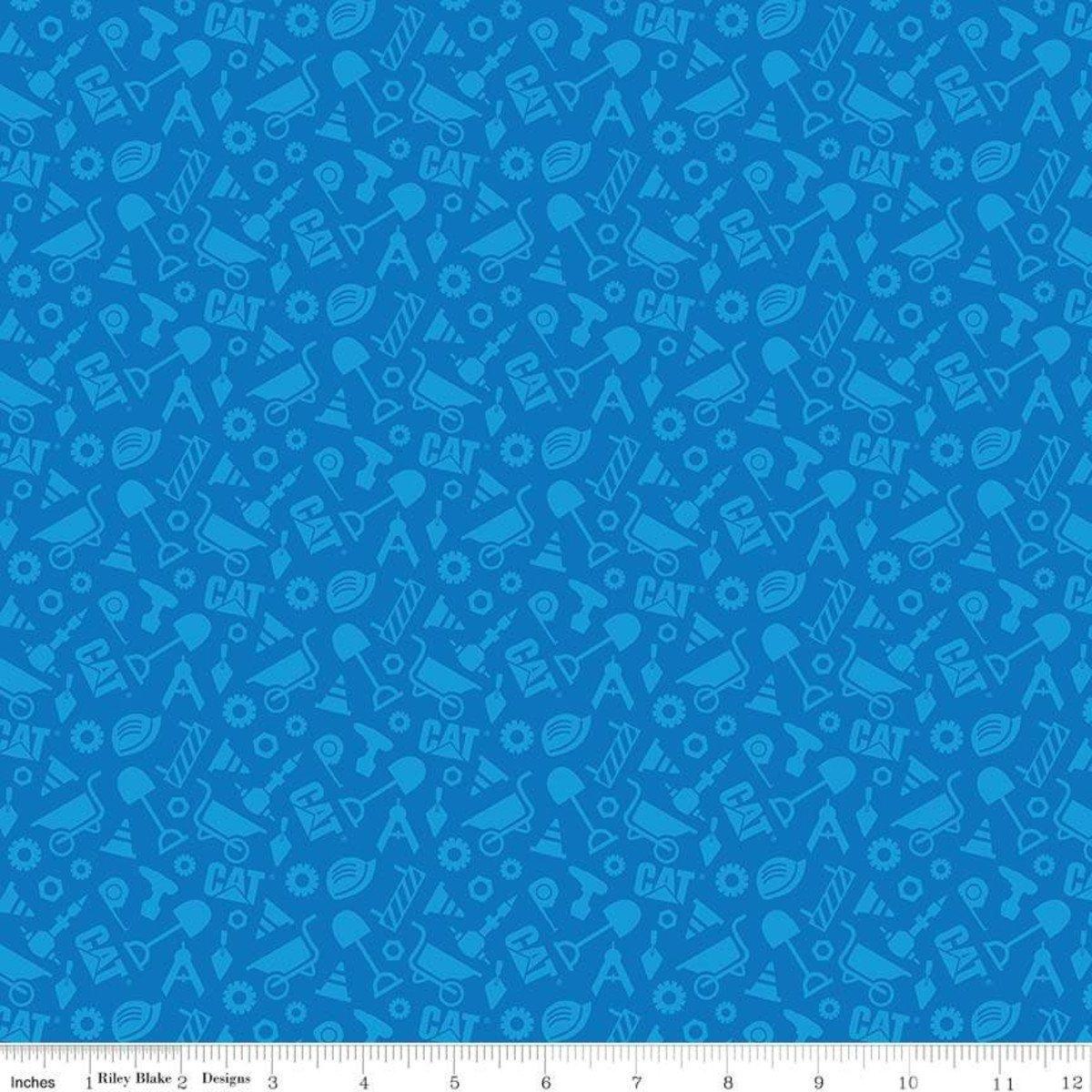 Designer Flannel Buildin Construction Set Blue