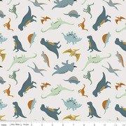 Designer Flannel Flannel Fossil Rim Dinos Cream