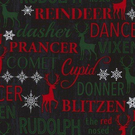 Christmas Cabin Reindeer words