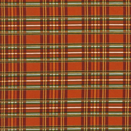 Holiday Harvest Plaid Orange