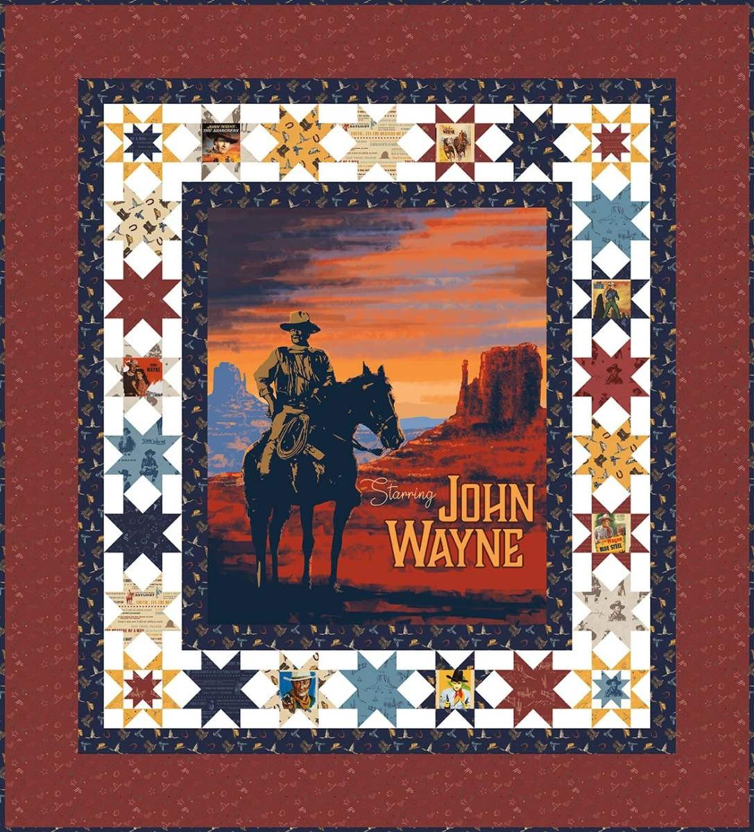 The Duke John Wayne Quilt kit 77 1/4 X 85 1/4
