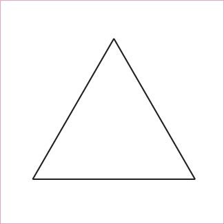 Equilateral Triangles with Template