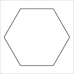 1 1/2 Hexagon with template