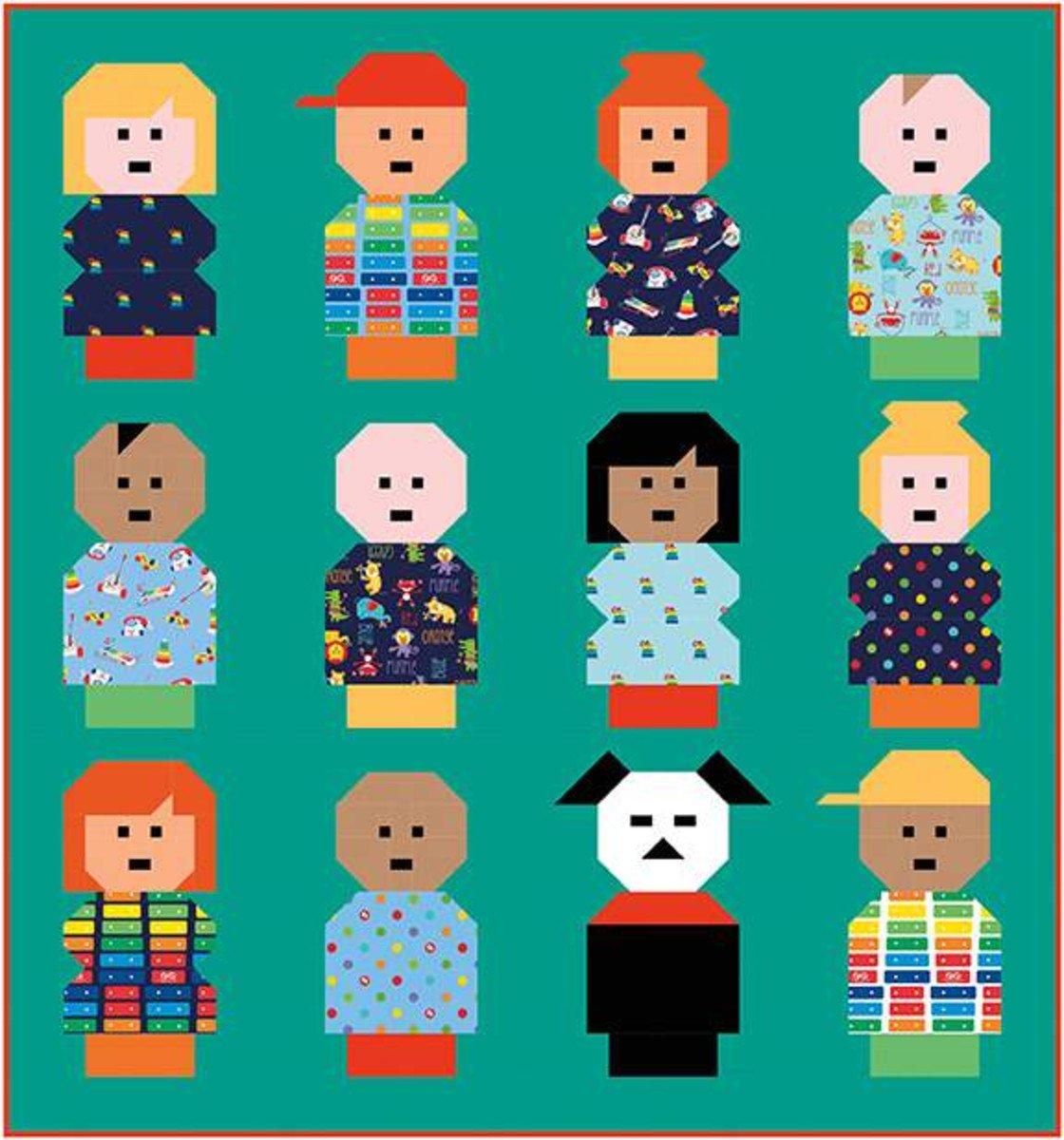 Vintage Play People Pattern by Kelli Fannin