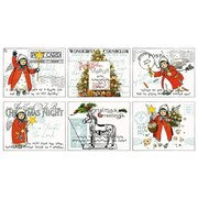 All About Christmas Placemat Panel by Janet Wecker-Frish