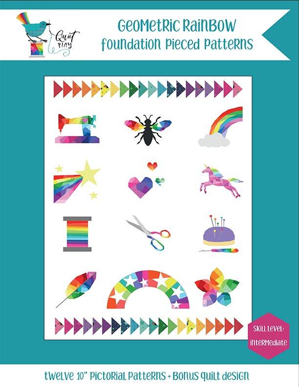 Geometric Rainbow by Kristy Lea for Riley Blake