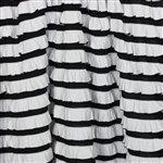 Black and White Ruffle