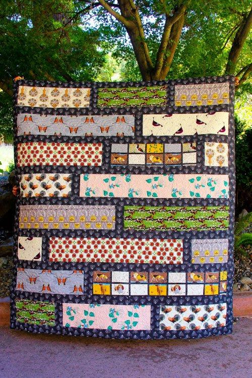 Rural Backyard Quilt Kit - ft Charley Harper Backyard